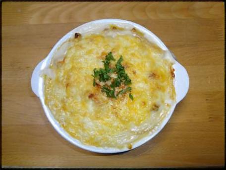 キューピー3分クッキング レシピ 鶏肉と絹さやの卵黄ソースグラタン  田口成子