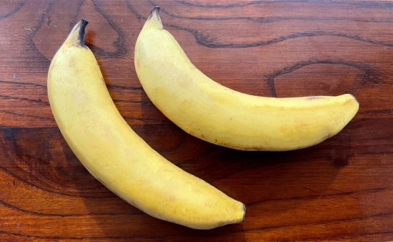 バナナのキャラメルソテー ヨーグルトクリーム